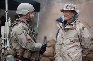 Behind the scenes: Clint Eastwood and Bradley Cooper on the