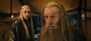 Thranduil and Gandalf - The Battle of the Five Armies