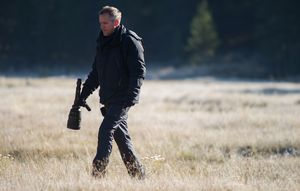 Director Jean-Marc Vallée checking out a location for Wild