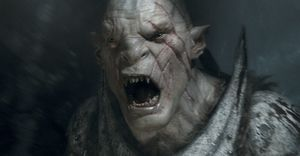 Azog screams
