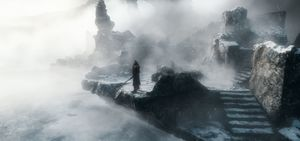 Misty scene in The Battle of the Five Armies