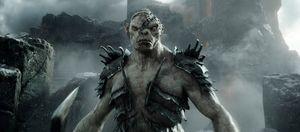 Azog angry in The Battle of the Five Armies