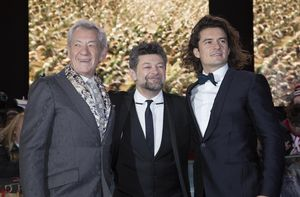 Ian McKellen, Andy Serkis and Orlando Bloom at The Hobbit: The Battle of the Five Armies