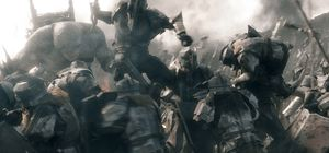 The Battle of the Five Armies war action scene
