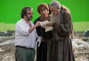 Behind the scenes: Peter Jackson, Martin Freeman and Ian McK