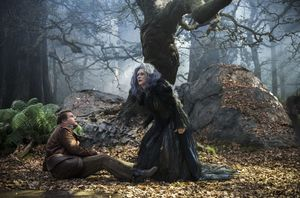 Meryl Streep and James Corden as The Witch and The Baker