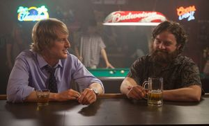 Owen Wilson and Zach Galifianakis have a drink in Are You He
