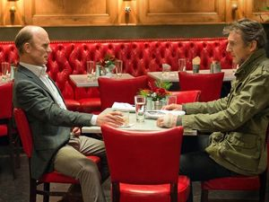 Liam Neeson and Ed Harris have a chat