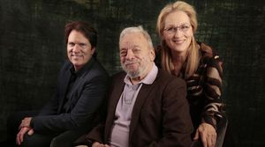Rob Marshall, Stephen Sondheim and Meryl Streep