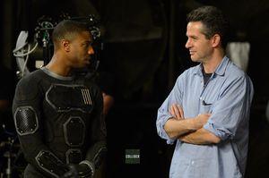 Simon Kinberg and Michael B. Jordan on Set