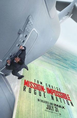 Tom Cruise hangs from plane in Mission Impossible 5 poster