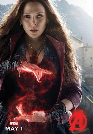 Elizabeth Olsen as Scarlet Witch character poster