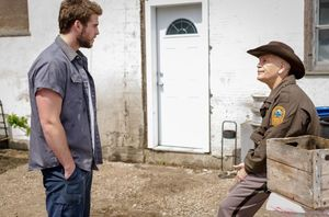 Liam Hemsworth and John Malkovich in Cut Bank