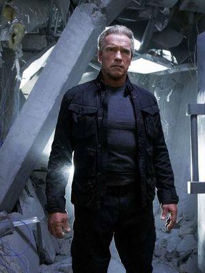 Arnold Schwarzenegger as Guardian in Terminator: Genisys