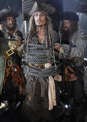 First look at Johnny Depp as Captain Jack Sparrow in 'Pira