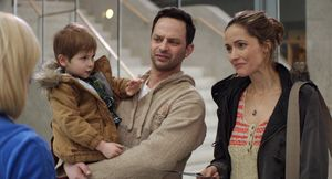 Nick Kroll and Rose Byrne in Adult Beginners