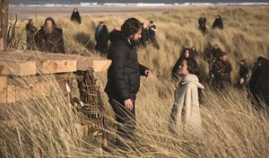 Justin Kurzel and Marion Cotillard behind the scenes of Macb