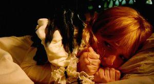 Creepy hand grabs in bed in Guillermo Del Toro's Crimson Pea