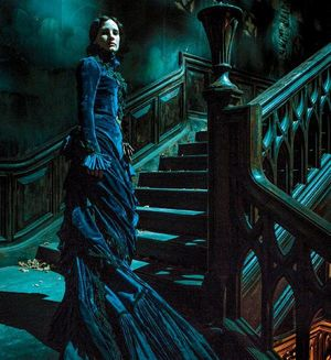 Jessica Chastain as Lady Lucille Sharpe in Guillermo del Tor