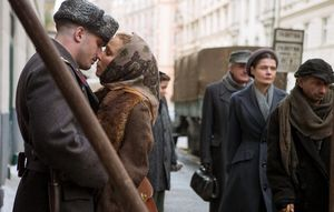 Tom Hardy and Noomi Rapace Share a Kiss in 'Child 44'