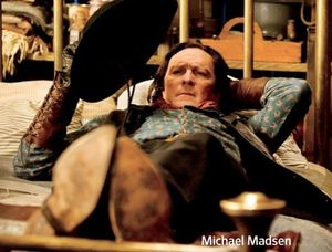 Michael Madsen and his cowboy hat