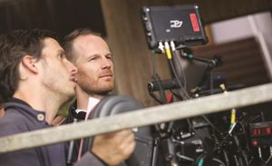 Director Joachim Trier on the set of Louder Than Bombs