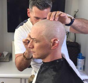 James McAvoy goes bald as Professor X in X-Men: Apocalypse