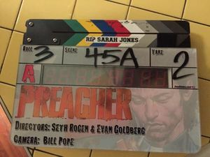 Seth Rogen Tweets First Set Photo from 'Preacher' TV Series