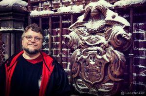 Guillermo del Toro on the set of Crimson Peak