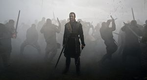 Battle scene with Fassbender in Macbeth