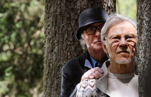Michael Caine and Harvey Keitel peek in Paolo Sorrentino's Y