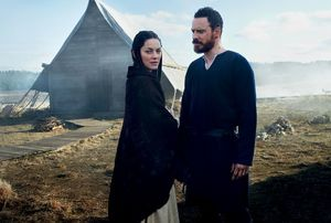 Michael Fassbender and Marion Cotillard as Macbeth and Lady