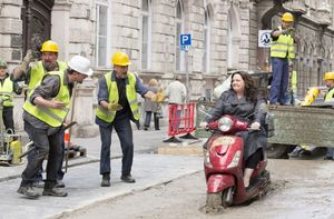 Melissa McCarthy On Her Scooter in 'Spy'