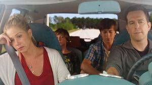 Christina Applegate and Ed Helms in car on Vacation