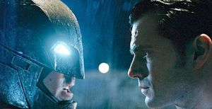 Batman and Superman Stare Down