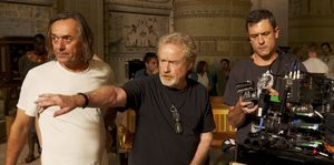 Ridley Scott directing Exodus: Gods and Kings