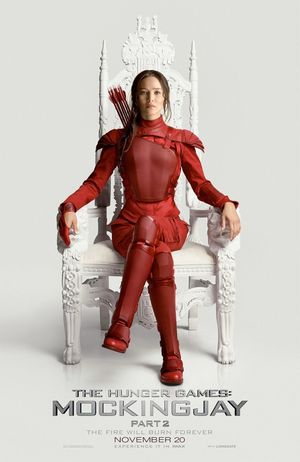 Jennifer Lawrence Sitting on President Snow's Throne in 'T