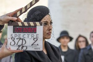 Monica Bellucci on the set of Spectre