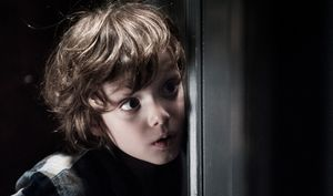Scared kid in The Babadook