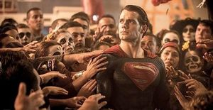 Superman Mobbed by Crowd
