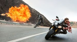 Tom Cruise Motorcycle Action