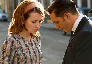 Tom Hardy and Emily Browning star in Legend