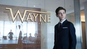 Bruce Wayne at Wayne Enterprises