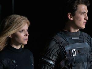 Kate Mara and Miles Teller as Reed Richards (Mr. Fantastic)