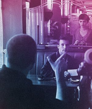 Jean-Pierre Jeunet and Audrey Tautou on the set of 'Amelie'