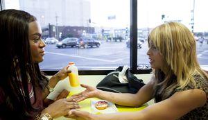 Mya Taylor and Kitana Kiki Rodriguez in Tangerine
