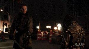 Oliver Queen defeats Ra's Al-Ghul, Starling City