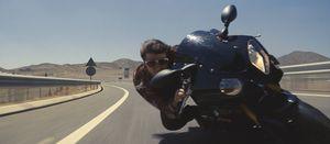 Tom Cruise on Bike close-up