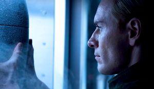 Prometheus Michael Fassbender as David8 with Alien Life Form