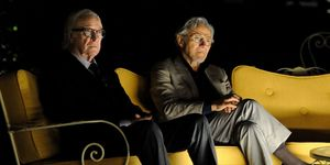 Michael Caine	and Harvey Keitel Sit Around in 'Youth'